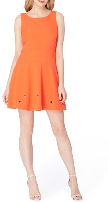 Women's Tahari Grommet Stretch Dress $128 thestylecure.com