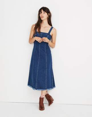Madewell Raw-Hemmed Denim Seamed Dress