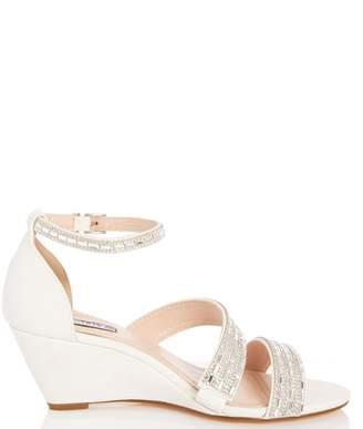 bf836749ec Dorothy Perkins Womens *Quiz White Diamante Wedges