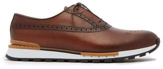 Berluti - Fast Track Leather Trainers - Mens - Brown Multi