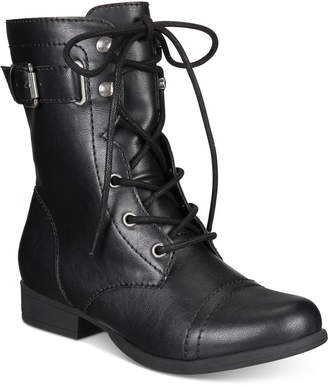 American Rag Fionn Lace-Up Combat Boots, Created for Macy's Women's Shoes $59.50 thestylecure.com