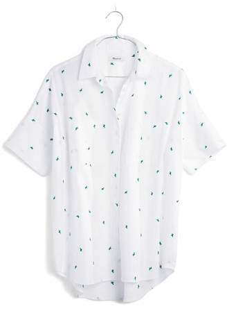 Madewell Cactus Embroidered Courier Shirt