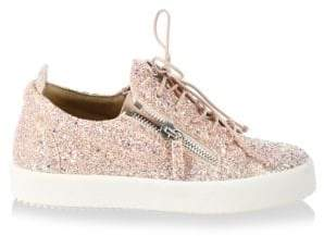 Giuseppe Zanotti May London Leather Fashion Sneakers