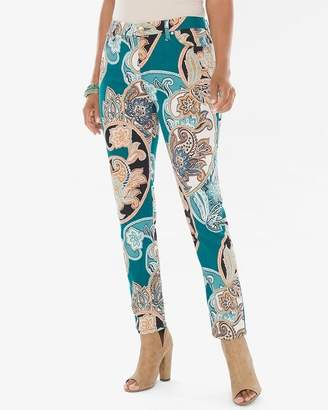 So Slimming Cool Paisley Girlfriend Ankle Jeans