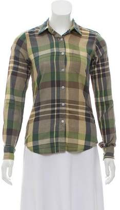 Steven Alan Tartan Button-Up Top