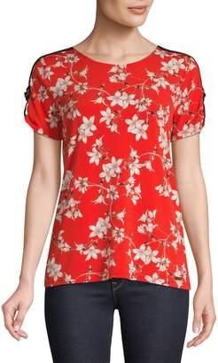 Calvin Klein Short Sleeve Floral Print Top