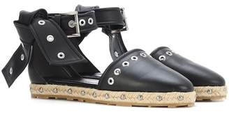 Alexander McQueen Embellshed leather espadrilles