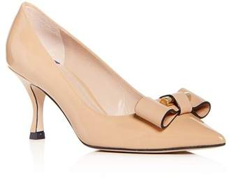 Stuart Weitzman Women's Belle Pointe Patent Leather Kitten-Heel Pumps