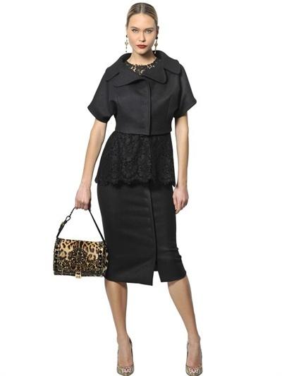 Dolce & Gabbana Leopard Printed Ponyskin Dolce Bag