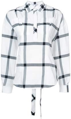Derek Lam 10 Crosby Long Sleeve Lace-Up Back Shirt