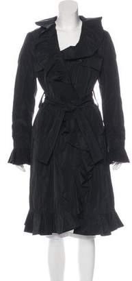 Dolce & Gabbana Ruffle-Trimmed Long Coat