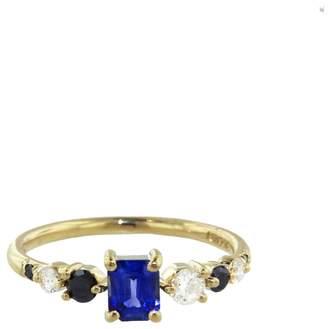 Mociun Seven Sister Stone Sapphire Ring