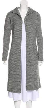 James Perse Hooded Open Front Cardigan