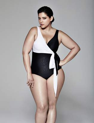 Swim One Piece with Built-In Balconette Bra by Sophie Theallet