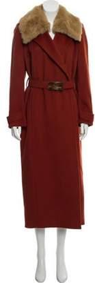 Celine Vintage Wool & Cashmere-Blend Coat tan Vintage Wool & Cashmere-Blend Coat
