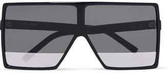 Saint Laurent Oversized Square-frame Acetate Sunglasses - Black