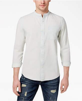 American Rag Men's Band Collar Denim Shirt, Created for Macy's
