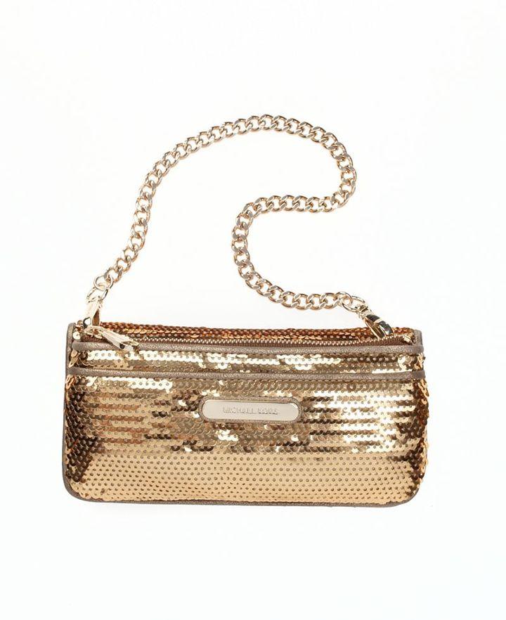 MICHAEL Michael Kors Handbag, Sequined Multifunction Wallet on a Chain
