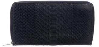Celine Python Large Zipped Multifunction Wallet