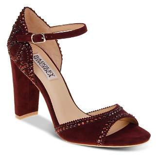 Badgley Mischka Kelly Embellished Suede High-Heel Sandals