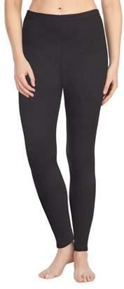 Cuddl Duds ClimateRight by Women's Strech Luxe Velour Warm Underwear Legging