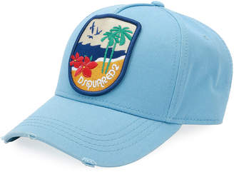 DSQUARED2 Tropical Patch Baseball Cap