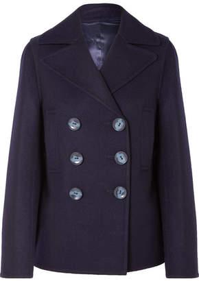 Joseph Hector Double-breasted Wool-blend Felt Coat - Navy
