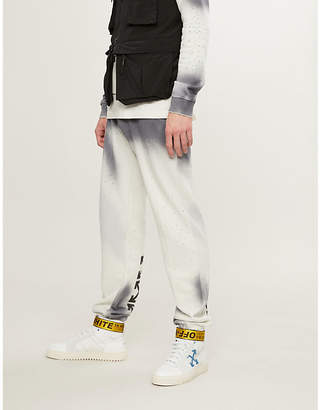 Off-White Spray crystal-embellished cotton-jersey jogging bottoms