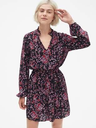Gap Long Sleeve Mockneck Dress with Tie-Waist