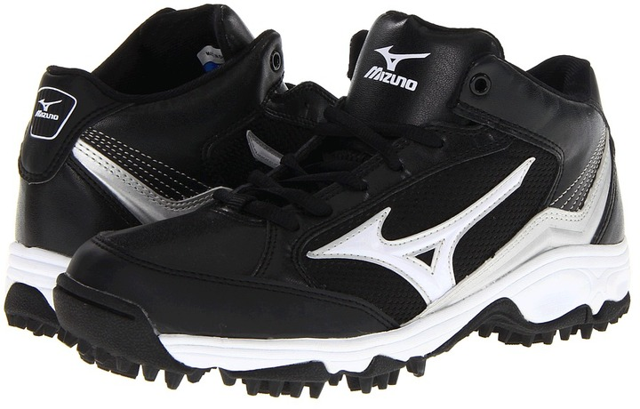 Mizuno 9-Spike Blast 3 Mid (Black/White) - Footwear