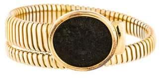 18K Coin Coil Bracelet