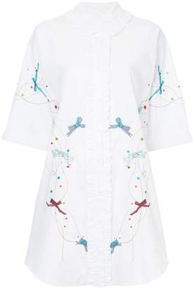 Romance Was Born Shepherdess EMB Shirt Dress