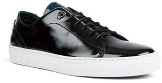 Ted Baker Duuke Patent Leather Lace-Up Sneakers