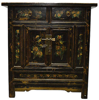 One Kings Lane Vintage Antique Chinese Hand-Painted Cabinet - FEA Home