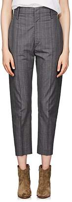 Etoile Isabel Marant Women's Noah Checked Cotton-Blend Crop Trousers