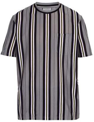 Lanvin Striped Cotton Jersey T Shirt - Mens - Grey Multi