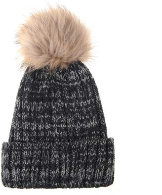 3841dc7f5b6 at Amazon Canada · WITHMOONS Trendy Ribbed Knitted Fur Pom Pom Beanie Hat  Slouchy CR5146