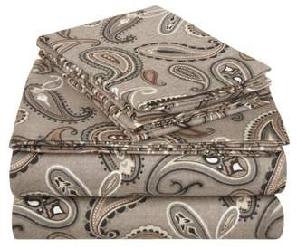 Superior Flannel Quality Cotton Paisley Sheet Set