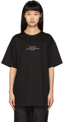 Juun.J Black Synthesize T-Shirt