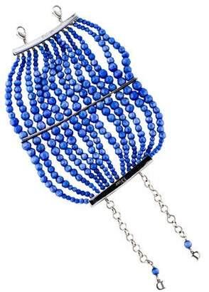 Christian Dior Faceted Cat's Eye Glass Bead Multistrand Bracelet