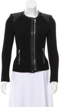 IRO Wool Leather-Trimmed Jacket