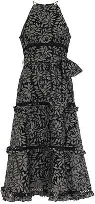 Keepsake Imagine Black Guipure Lace Midi Dress