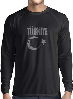 lepni.me Men's T-shirt Turkiye Cumhuriyeti Turkey coat of arms - political shirts ( Red White)