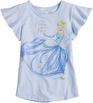 """Disneyjumping Beans Disney's Cinderella Girls 4-7 """"Have Courage & Be Kind"""" Tee by Jumping Beans"""