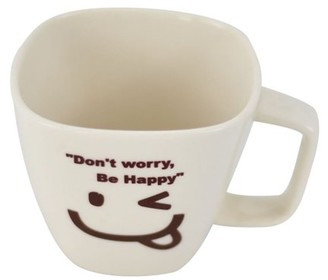 Southern Homewares Don't Worry, Be Happy Ceramic Tea Cup Face 06