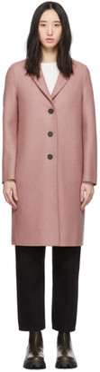 Harris Wharf London Pink Pressed Wool Overcoat