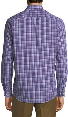 Tailorbyrd Men's Plaid Button-Down Sport Shirt