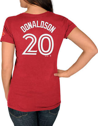 Majestic Ladies Toronto Blue Jays Josh Donaldson Red Player T-Shirt