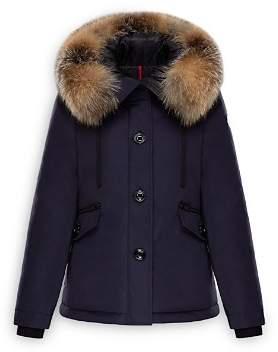 Moncler Malus Fox Fur Trim Down Parka