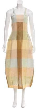 Kenzo Linen and Silk Sleeveless Maxi Dress